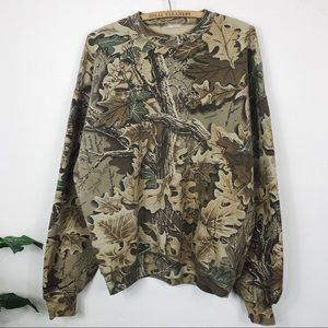 Vintage • Oversized Camouflage Crewneck